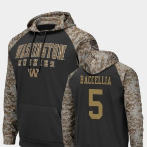 #5 Andre Baccellia Washington Huskies Colosseum Football United We Stand Men Hoodie - Charcoal