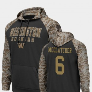 #6 Chico McClatcher Washington Huskies United We Stand Colosseum Football For Men's Hoodie - Charcoal