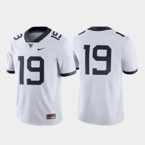 #19 West Virginia Mountaineers Game Football Men's Jersey - White