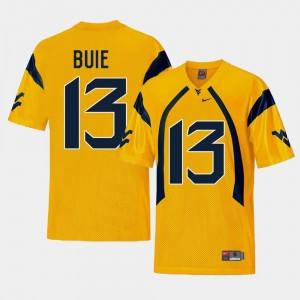 #13 Andrew Buie West Virginia Mountaineers Mens College Football Replica Jersey - Gold