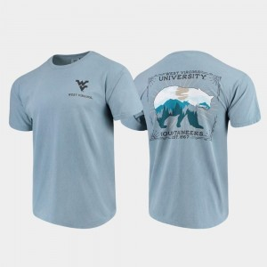 West Virginia Mountaineers State Scenery Comfort Colors Men T-Shirt - Blue