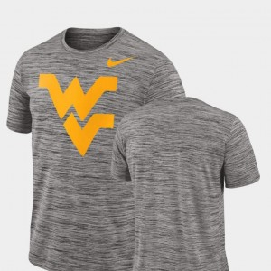 West Virginia Mountaineers Men's 2018 Player Travel Legend Performance T-Shirt - Charcoal