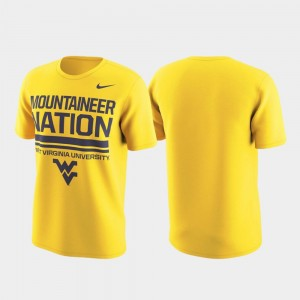 West Virginia Mountaineers Performance Local Verbiage Men T-Shirt - Gold