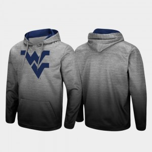 West Virginia Mountaineers Pullover Sitwell Sublimated For Men Hoodie - Heathered Gray