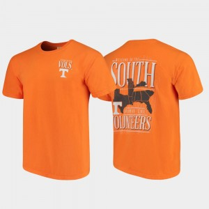 West Virginia Mountaineers Welcome to the South Men Comfort Colors T-Shirt - Tennessee Orange