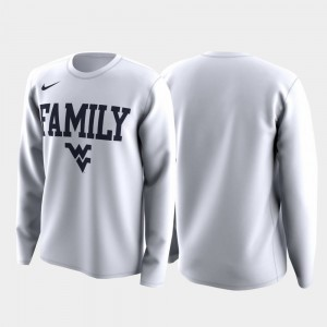 West Virginia Mountaineers For Men's March Madness Legend Basketball Long Sleeve Family on Court T-Shirt - White
