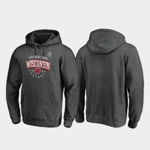 Wisconsin Badgers Men 2020 Rose Bowl Bound Tackle Hoodie - Heather Gray