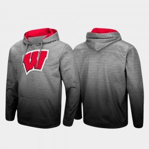 Wisconsin Badgers Men's Pullover Sitwell Sublimated Hoodie - Heathered Gray
