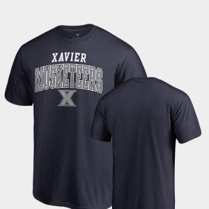 Xavier Musketeers Square Up Mens T-Shirt - Navy