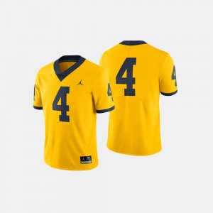 #4 Michigan Wolverines College Football For Men's Jersey - Maize