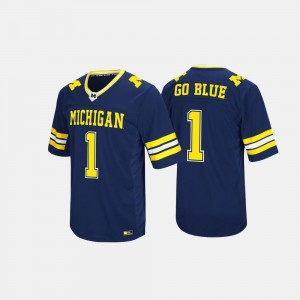 #1 Michigan Wolverines For Men's Hail Mary II Jersey - Navy