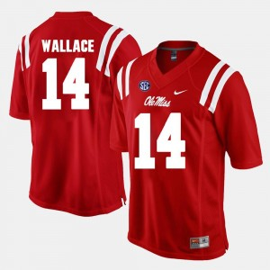 #14 Mike Wallace Ole Miss Rebels Men's Alumni Football Game Jersey - Red