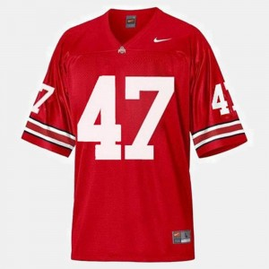 #47 A.J. Hawk Ohio State Buckeyes College Football For Kids Jersey - Red