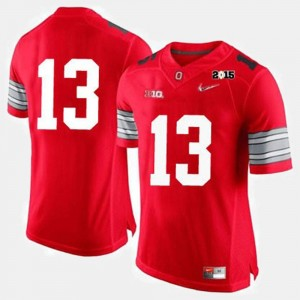 #13 Ohio State Buckeyes For Men's College Football Jersey - Red