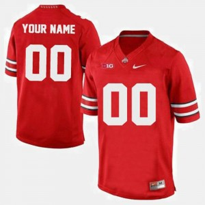 #00 Ohio State Buckeyes College Football Men's Customized Jersey - Red
