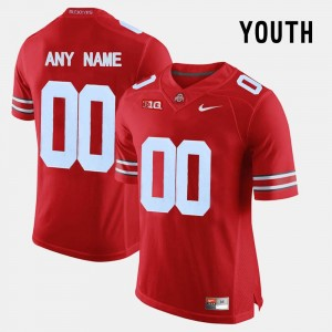 #00 Ohio State Buckeyes Youth College Limited Football Custom Jersey - Red