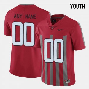 #00 Ohio State Buckeyes Kids Throwback Customized Jersey - Red