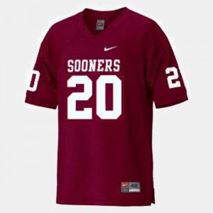 #20 Billy Sims Oklahoma Sooners College Football For Kids Jersey - Red