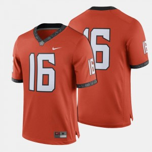 #16 Oklahoma State Cowboys and Cowgirls Men College Football Jersey - Orange