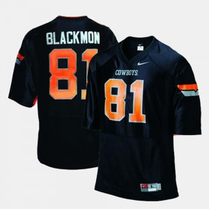 #81 Justin Blackmon Oklahoma State Cowboys and Cowgirls College Football Mens Jersey - Black