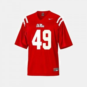 #49 Patrick Willis Ole Miss Rebels For Kids College Football Jersey - Red