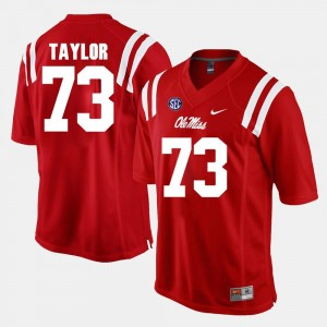 #73 Rod Taylor Ole Miss Rebels Alumni Football Game Mens Jersey - Red
