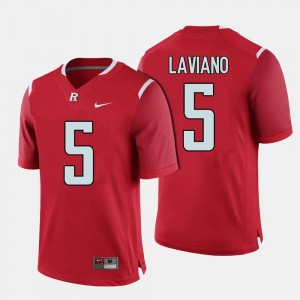 #5 Chris Laviano Rutgers Scarlet Knights For Men College Football Jersey - Red