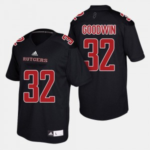 #32 Justin Goodwin Rutgers Scarlet Knights College Football For Men's Jersey - Black