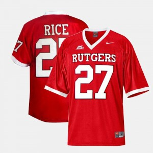 #27 Ray Rice Rutgers Scarlet Knights College Football For Men's Jersey - Red