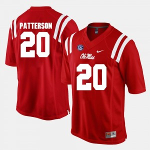 #20 Shea Patterson Ole Miss Rebels Alumni Football Game For Men's Jersey - Red