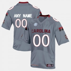 #00 South Carolina Gamecocks College Limited Football For Men's Customized Jerseys - Grey