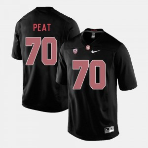 #70 Andrus Peat Stanford Cardinal College Football Mens Jersey - Black