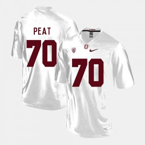 #70 Andrus Peat Stanford Cardinal For Men College Football Jersey - White