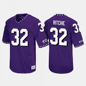 #32 Brandon Ritchie TCU Horned Frogs Throwback Mens Jersey - Purple