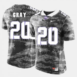 #20 Deante Gray TCU Horned Frogs Mens College Football Jersey - Grey