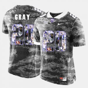 #20 Deante Gray TCU Horned Frogs Mens High-School Pride Pictorial Limited Jersey - Grey