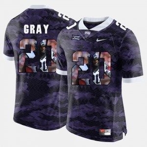 #20 Deante Gray TCU Horned Frogs High-School Pride Pictorial Limited For Men Jersey - Purple
