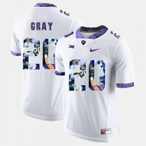 #20 Deante Gray TCU Horned Frogs Men's High-School Pride Pictorial Limited Jersey - White