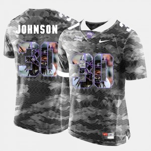 #30 Denzel Johnson TCU Horned Frogs Mens High-School Pride Pictorial Limited Jersey - Grey