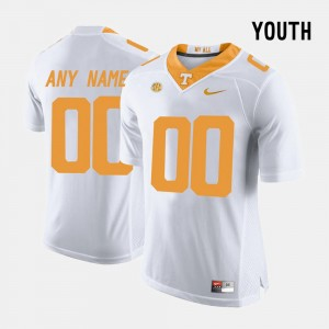 #00 Tennessee Volunteers College Limited Football Youth Customized Jersey - White
