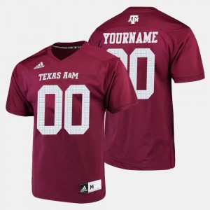 #00 Texas A&M Aggies College Football Men Customized Jersey - Maroon