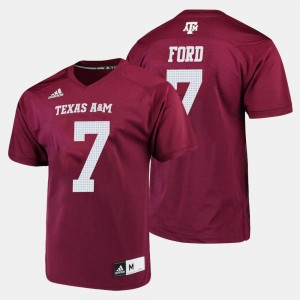 #7 Keith Ford Texas A&M Aggies For Men's College Football Jersey - Maroon