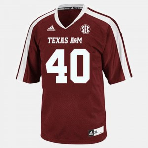 #40 Von Miller Texas A&M Aggies College Football Youth Jersey - Red