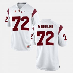 #72 Chad Wheeler USC Trojans For Men Pac-12 Game Jersey - White
