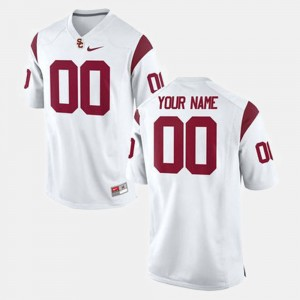 #00 USC Trojans College Football Mens Customized Jersey - White