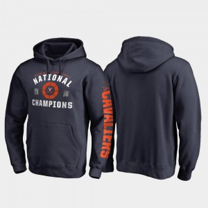 Virginia Cavaliers For Men's 2019 NCAA Basketball National Champions Dribble Pullover 2019 Men's Basketball Champions Hoodie - Navy