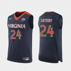#24 Marco Anthony Virginia Cavaliers 2019 Men's Basketball Champions For Men Jersey - Navy