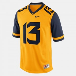 #13 Andrew Buie West Virginia Mountaineers College Football Mens Jersey - Gold