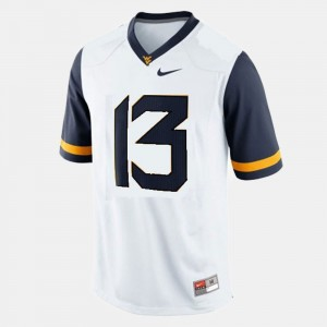 #13 Andrew Buie West Virginia Mountaineers For Kids College Football Jersey - White
