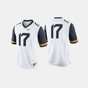#17 West Virginia Mountaineers For Men's College Football Jersey - White
